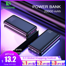 Floveme power bank 20000 mah poverbank de carregamento portátil do telefone móvel carregador de bateria externa powerbank 20000 mah para xiaomi mi