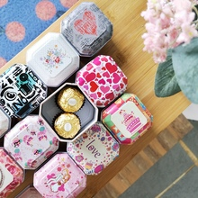 Tinplate Empty Boxes Wedding Candy Box Cute Home Storage Case Container Gift DIY Chocolate Tins