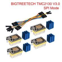 Bigtreetech tmc2130 v3.0 spi peças de impressora 3d driver motor passo tmc2208 tmc2209 a4988 para skr v1.4 v1.3 placa mks rampas 1.4