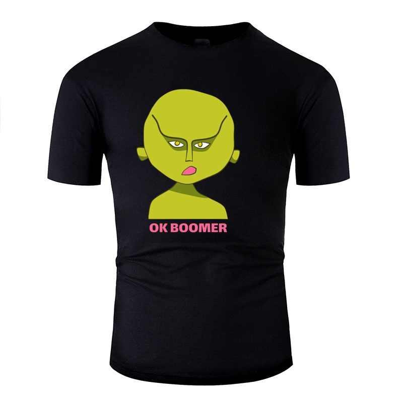 印刷 Awesome エイリアンティーン: ok ブーマー Tシャツの男綿 100% 黒人男性の Tシャツメンズサイズ Xxxl 4xl 5xl トップ品質