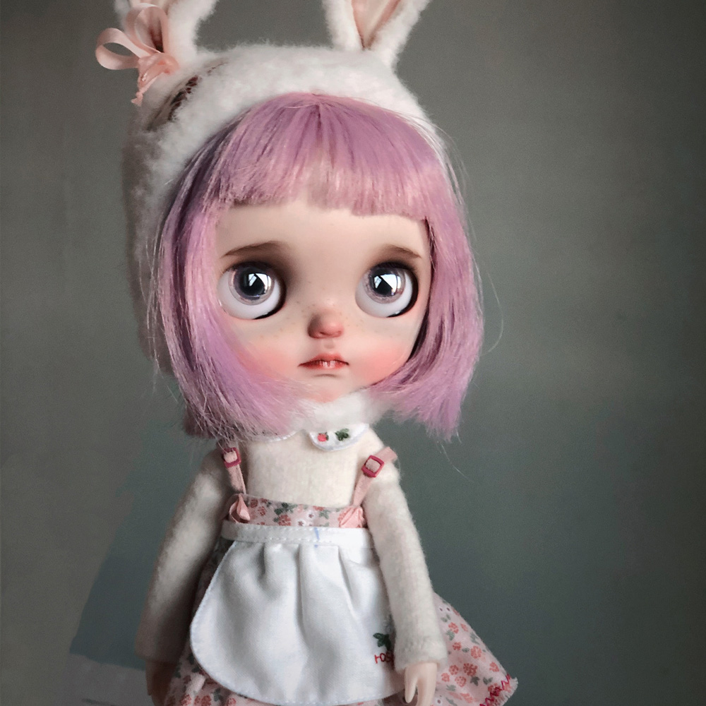 Blyth Doll NBL 1/6 BJD Customized Frosted Face,big Eyes Fashion Girl Makeup Ball Jointed Doll Tender Little Cute Girl 4
