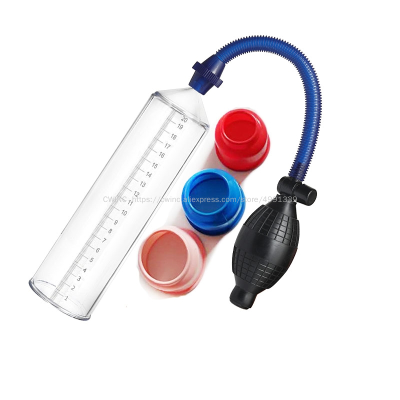 CW0251 Manual Penis Extender Stretcher Vacuum Pump Sex Toys for Men with 3 Sizes Sleeves