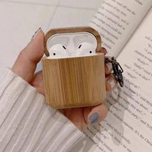 For AirPods Bamboo Headphone Case Wood Earphone Earpods Cover For AirPod Wireles