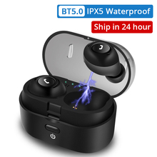 Bluetooth Earphones TWS Wireless Headphones Sport Bluetooth 5.0 Earbuds Bass 3D Stereo Headset Handsfree with Dual Mic for Phone