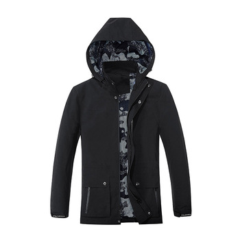 Men Slim Fit Thin Section Jacket Male Coat Wash With Water Lian Cap Leisure Tooling Youth Chao Big Code