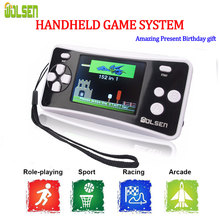 Wolsen 2.5 인치 휴대용 게임 시스템 내장 게임 152 게임 아이 8 비트 비디오 게임 시스템