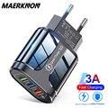 Зарядное устройство с 3 портами USB универсальное сетевое быстрое зарядное устройство адаптер быстрой зарядки 3,0 4,0 для iPhone 12 pro 11 Xiaomi Tablet моби...