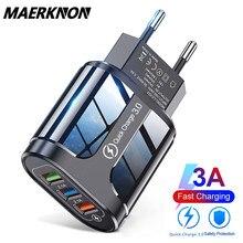 3 usb carregador de parede universal carregador rápido adaptador carga rápida 3.0 4.0 para iphone 12 pro 11 xiaomi tablet carregadores do telefone móvel