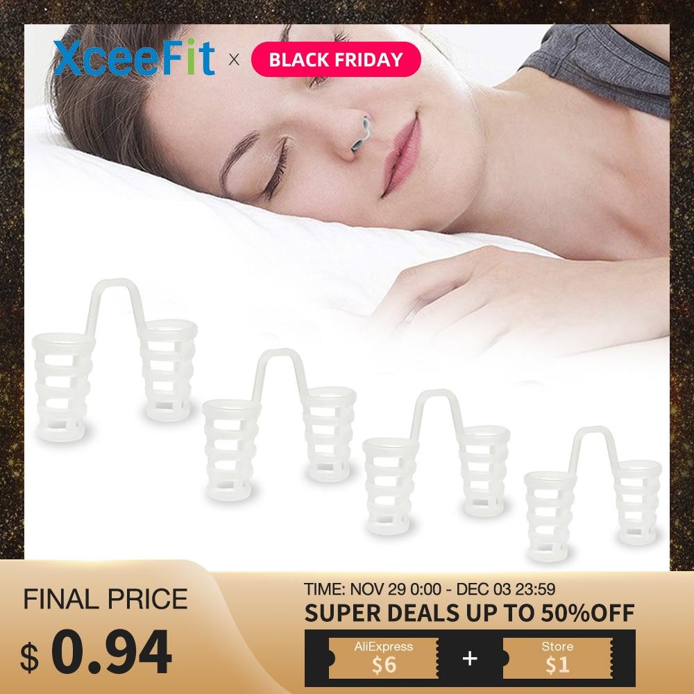 4pcs/Set Sleep Apnea Anti Snore Nose Clip Sleeping Snore Stopper Anti Snore Device Sleeping Aid Equipment Stop Snoring