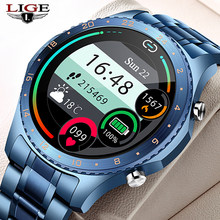 LIGE 2021 New Smart Watch Men Bluetooth Call Watch Heart Rate Blood Pressure Monitoring Sports Smart Watch Men For Android IOS