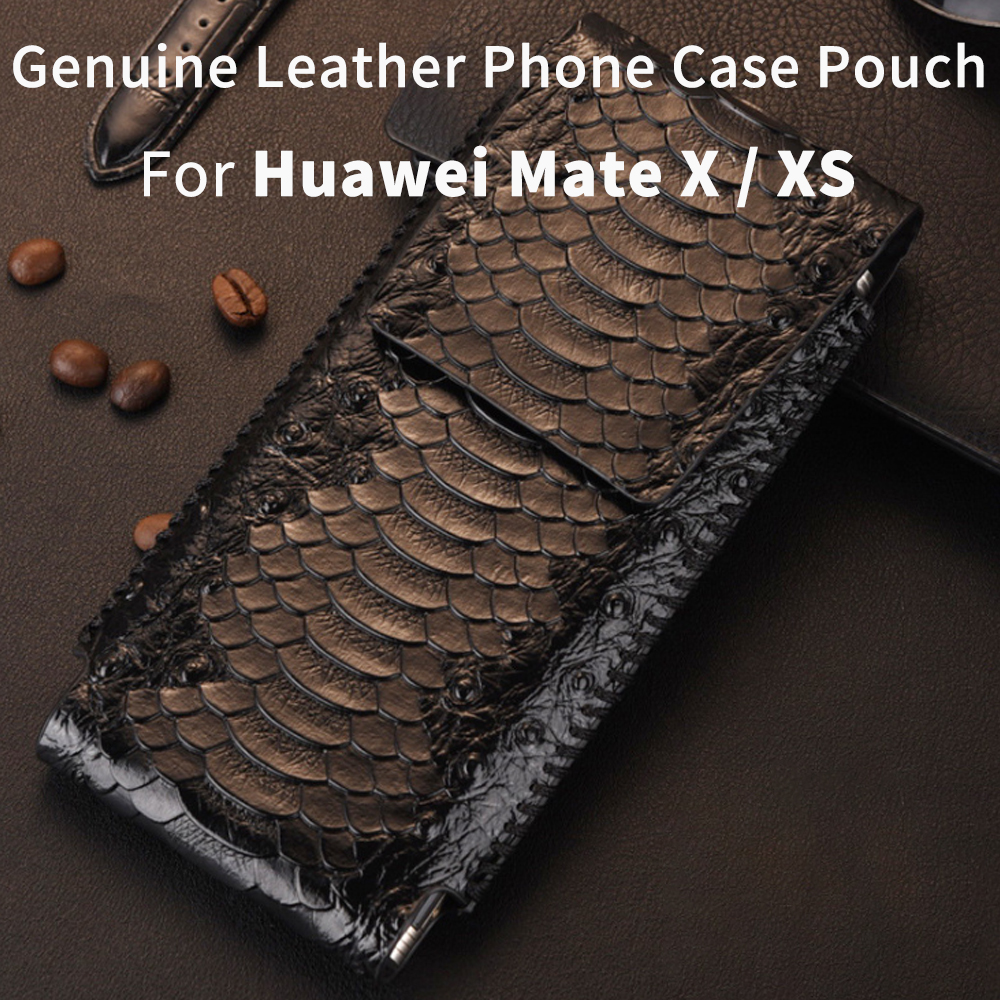 Genuine Leather Phone Case For Huawei Mate X Pouch Huawei MateXs case Phone Case MateX case cover MateXS 5G case