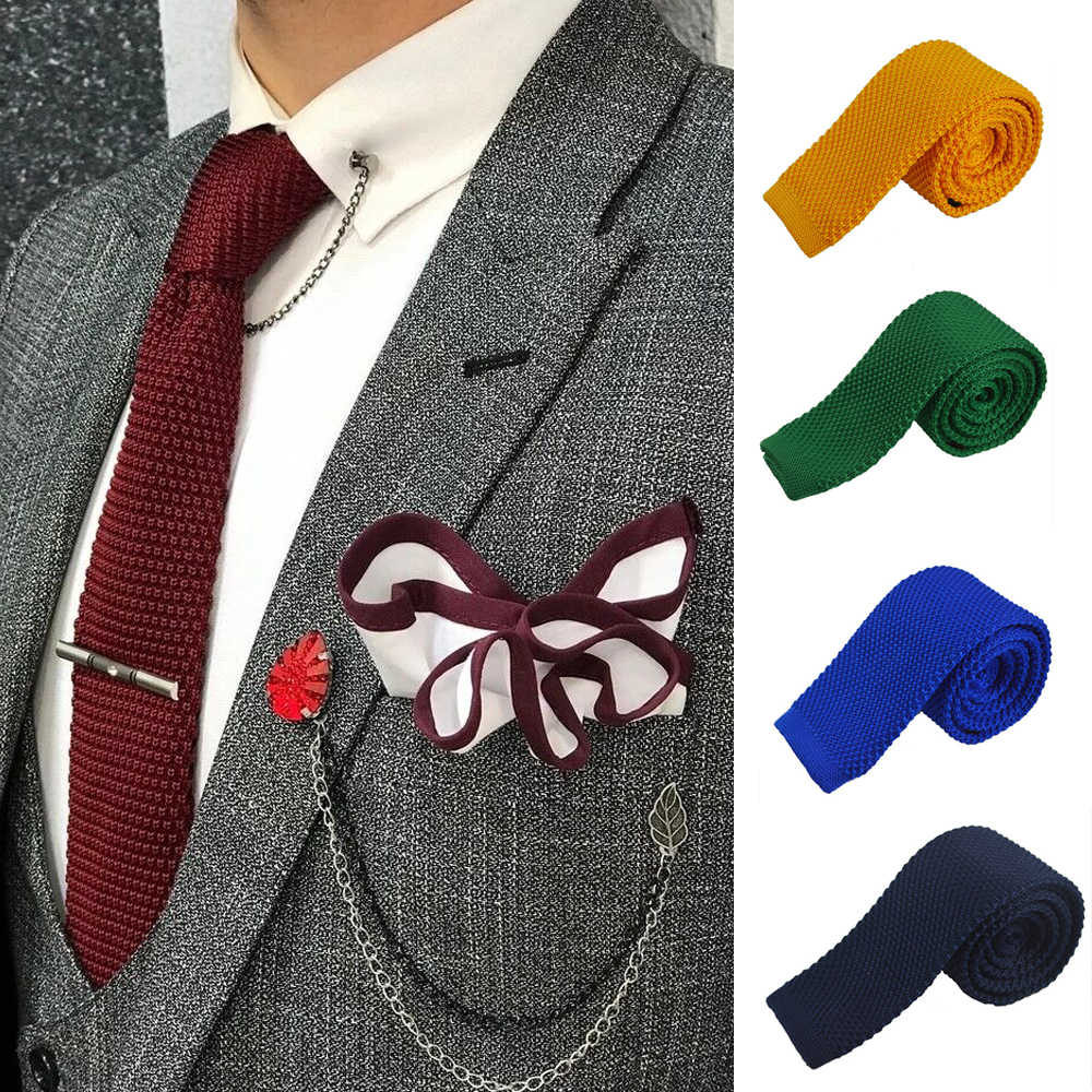 Solid Knitted Ties for men Casual Polyester Skinny Mens Neckties Fashion  Candy Color Slim Neck tie for gify Wedding|necktie storage|tie dye tank  dresstie retail - AliExpress