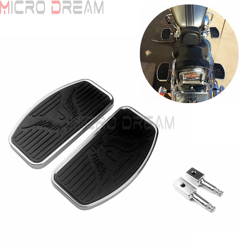 For Honda Shadow VT750 VT400 2004-2012 Front Rider Floorboards Black Billet Aluminum Motorcycle Driver Footrest Foot Peg Rest