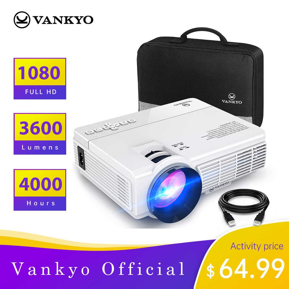 VANKYO פנאי 3 מיני מקרן 1920*1080P 170 ''תצוגה נייד מקרן עם 40000 שעות LED מנורת חיים טלוויזיה מקל PS4 HDMI PK Q5