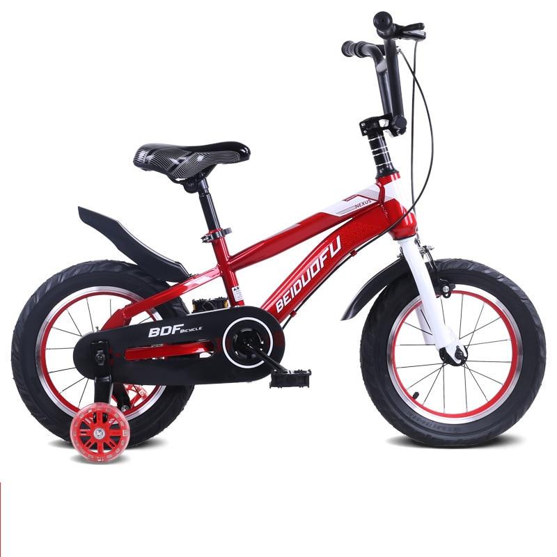 Карбоновая стальная рама, детский велосипед 12 14 16 дюймов, Помощь ребенку в обучении, велосипед