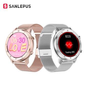 Умные часы SANLEPUS глобальная версия IP67, водонепроницаемые Смарт-часы, новинка 2020, мужской и женский фитнес-браслет, ремешок для Android, Apple, Xiaomi