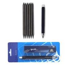 Lápis de esboço de lápis automático de 5.6mm com 6 pces 4b grafite lápis de chumbo para esboço desenho desenho desenhando crafting escola escrita