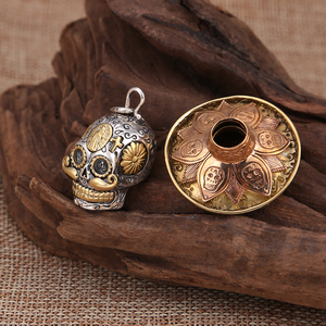 Image 5 - V.YA Punk 925 Sterling Silver Skeleton Skull Pendants Fit Necklaces for Men Women Thai Silver Pendant High Quality