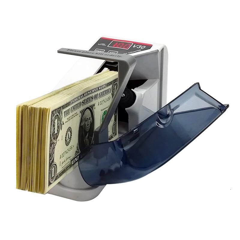 Портативный мини-счетчик денег с аккумулятором/вилкой, светодиодный дисплей, удобный счетчик денег для денег и банкнот, Счетный счет, Dinero V30