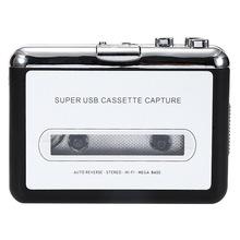 Wyprzedaż usb kaseta do MP3 konwerter przechwytywania przenośny sprzęt Audio Tape-to-MP3 odtwarzacz muzyczny przełącznik tanie tanio centechia not supported hard disk push button Recording built-in speaker none