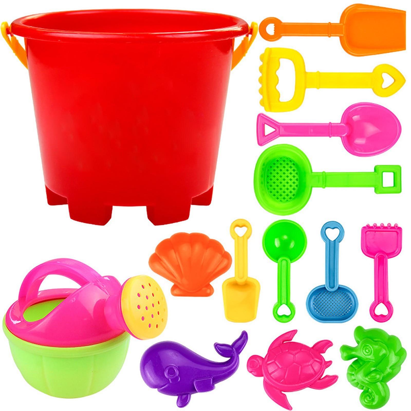 Набор инструментов для пляжа, 14 шт., игра с песком, игрушки для детей, забавные инструменты для водного пляжа, приморские инструменты, Детска...