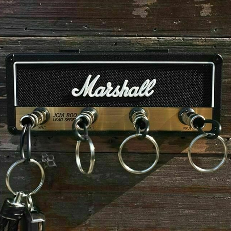 Marshall Key Holder Wall Vintage Guitar Amplifier Key Holder Jack Rack 2.0 Marshall JCM800 Key Hangerr Guitar Home Decoration