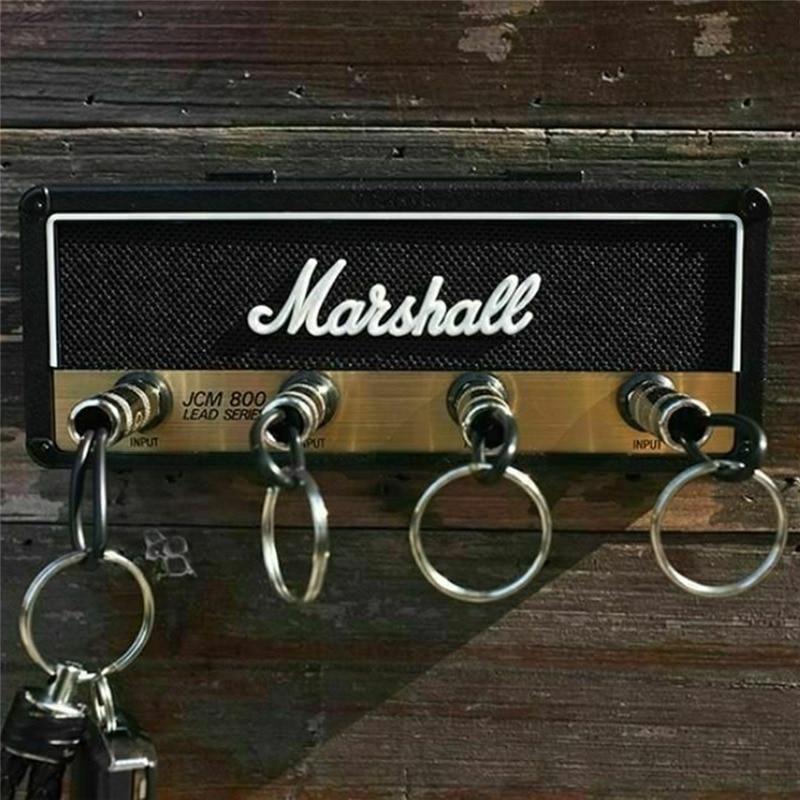 Marshall Key Holder Wall Vintage Guitar Amplifier Key Holder Jack Rack 2.0 Marshall JCM800 Key Hangerr Guitar Home Decoration