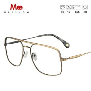 Image 4 - טיטניום סגסוגת משקפיים מסגרת גברים של oversize משקפיים מרשם משקפיים שמש קוצר ראייה משקפיים גדול גודל נשים אירופה eyewear