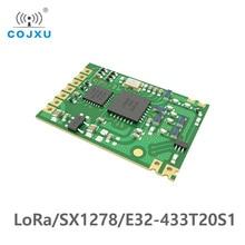 Receptor sem fio do transmissor do módulo smd do transceptor do módulo 433 mw ipex 100 de longa distância sx1278 E32 433T20S1 mhz