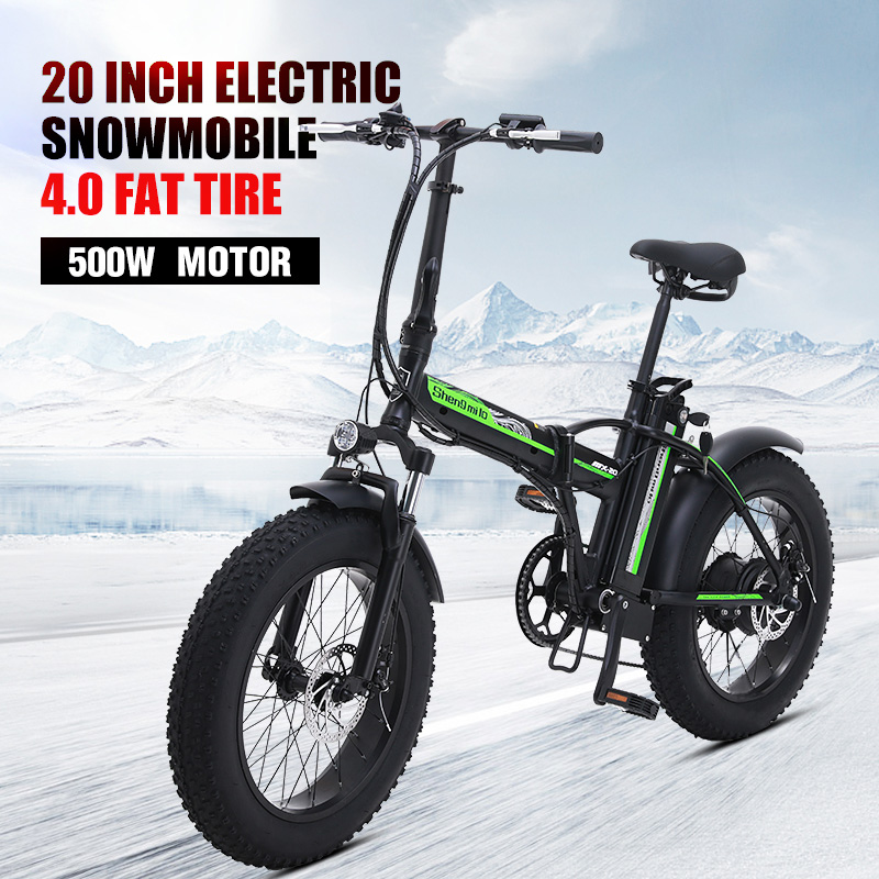"""New Electric bicycle 20"""" fat tire 48V 15AH 500W electric beach cruiser bike Booster bicycle folding Aluminum alloy electric bike"""