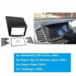 Image 5 - Voor Mitsubishi Pajero Sport Triton L200 Radio Dvd Stereo Panel Dash Montage Installatie Trim Kit Gezicht Frame Fascia Met Doos