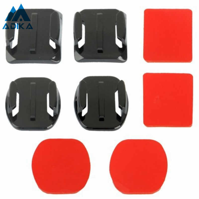 ADIKA 8pcs Curve Attachment Flat Surface Adapters Adhesive Mount Pad Stickers Holder Pasters for GoPro Hero 4 3+ 3 2 1 Camera