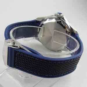 BLIGER резиновый ремешок черный синий/черный ремешок для часов со стальным браслетом застежка 20 мм ширина наконечник подходит 41 мм BLIGER часы