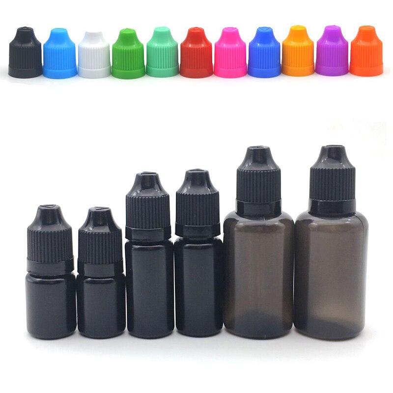 1pcs 5ml 10ml 30ml Black Soft PE Dropper Bottles E Liquid Eyes Drop Refillable Empty Plastic Bottle