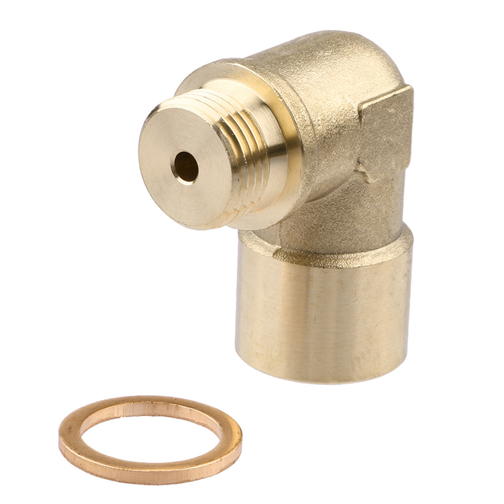 90 Angled O2 Oxygen Sensor Extension Brass Spacer M18 x 1.5 For Decat Hydrogen