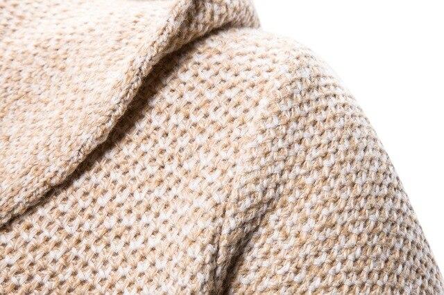 2020 outono novo estilo de moda masculina com capuz cardigan camisola casaco tendência europa e américa suéter