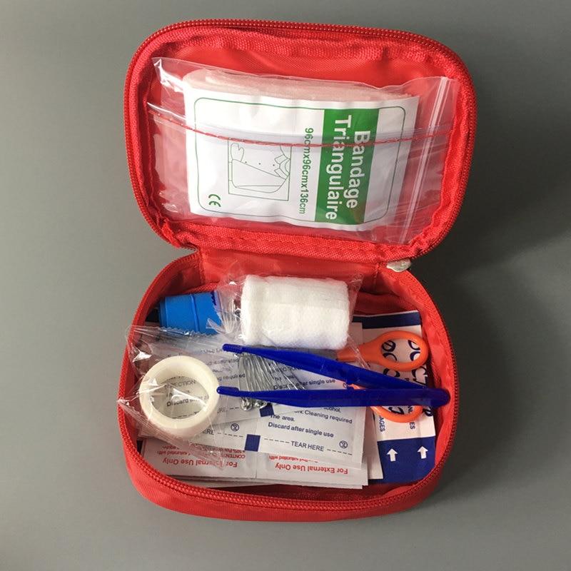 Аптечка первой помощи для выживания в дикой природе, 12 предметов/35 шт., аптечка для кемпинга, походов, медицинская сумка, мини-аптечка для ско...