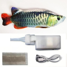 30CM Electronic Pet Cat Toy Electric USB Charging Simulation Fish Toys For Dog Chewing Playing Biting Supplies M