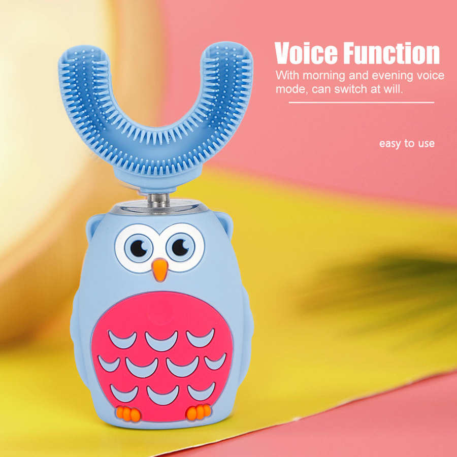 Intelligent Automatic Electric Toothbrush for Children USB Rechargeable -Shaped Electric Toothbrush Kid Teeth Cleaning Tools