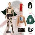 Парик для косплея из «атаки на Титанов», накидка для костюма Микаса Аккермана, жакет, юбка на ремне, шарф с Кулиской