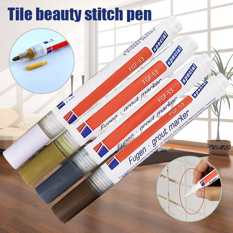 Tile Grout Coating Marker Wall Floor Ceramic Tiles Gaps Professional Repair Pen L9 #2