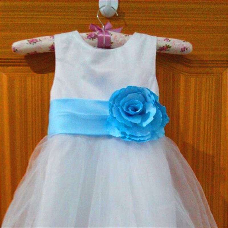 New Flower Girl Dresses for Wedding First Communion Ball Party Pageant Dress with Flower Real Little Girls Kids/Children Dress