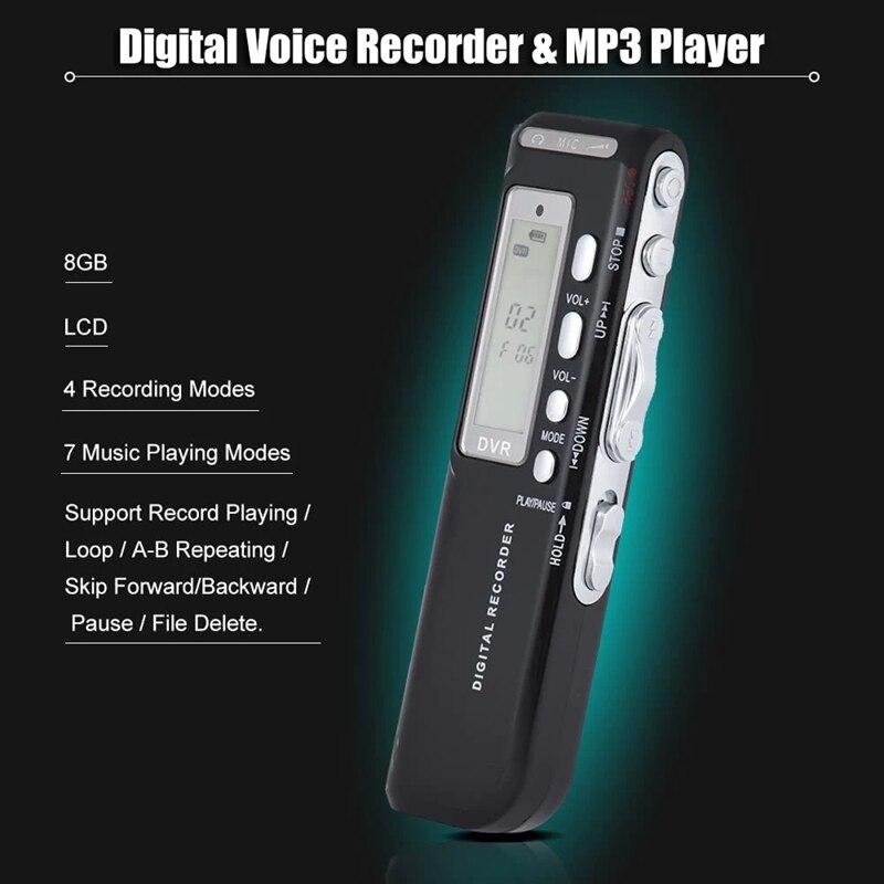 Sk-010 8 Гб цифровой Аудио Диктофон Mp3 музыкальный плеер Голосовая активация Var A-B повторная петля