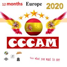 2020 Cccam spain 1 year stable 7 Line server HD cline ccam Europe Portugal Poland for satellite receiver(China)