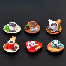 Cute Sushi Dessert Cat Figurine Animal Model Home Decor Miniature Fairy Garden Decoration Accessories Modern Bonsai PVC Ornament