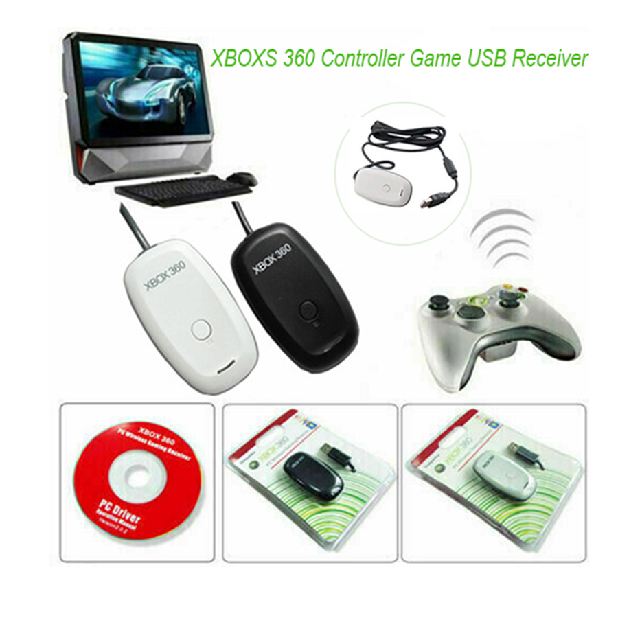 Wireless Gaming Receiver for Microsoft XBOX 360 Controller Game USB Receiver Gamepad Adapter Support PC Windows