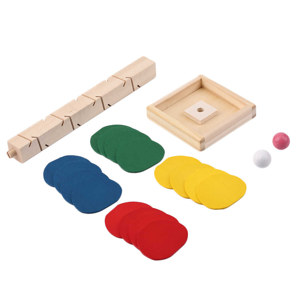 OCDAY 木製木大理石ボール実行トラックゲームベビーモンテッソーリブロック子供子供知能教育モデル構築のおもちゃ