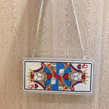 Women Playing card Crystal Box Clutch Evening Bag Minaudiere Handbags Diamond Wedding Bridal Purse Bolso Mujer Club Party purses