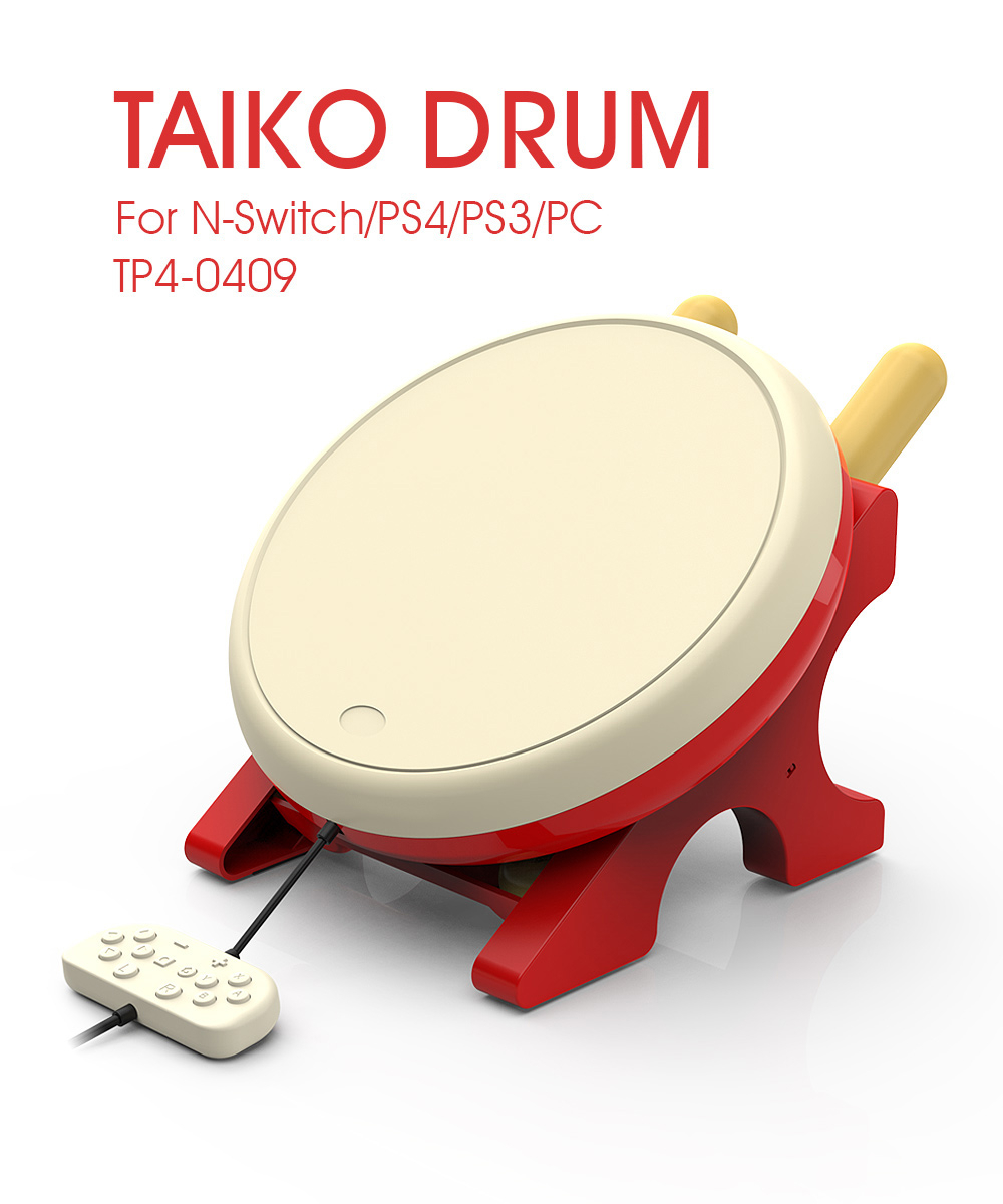 Gaming Drum For NS Joy-Con video game Taiko Drum For Nintendo Switch For PS3 PS4 PC Taiko no Tatsujin Video Game Accessories