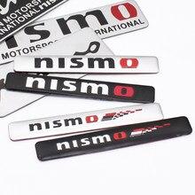 Pegatina de aluminio para emblema de coche, decoración trasera para NISSAN QASHQAI Nismo J10 J11 2011 2008 2018 2019, accesorios